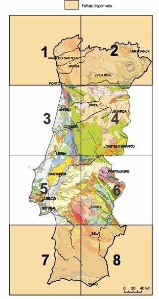 Carta Geológica de Portugal, na escala de 1:200 000
