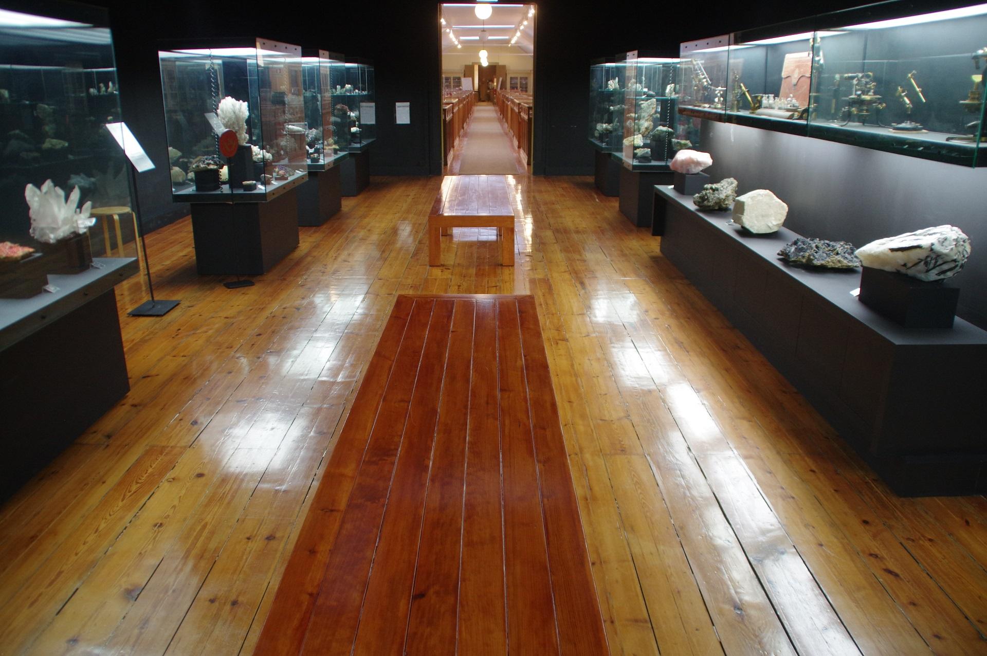 Museu Geológico - Sala de Minerais