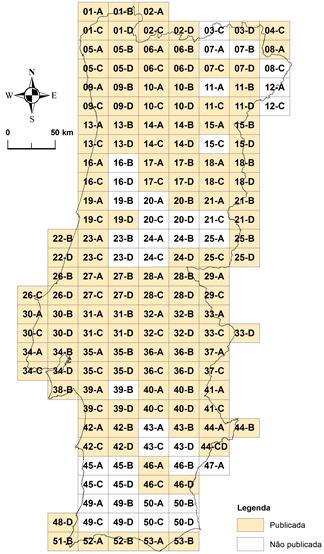 Carta Geológica de Portugal, na escala de 1:50 000