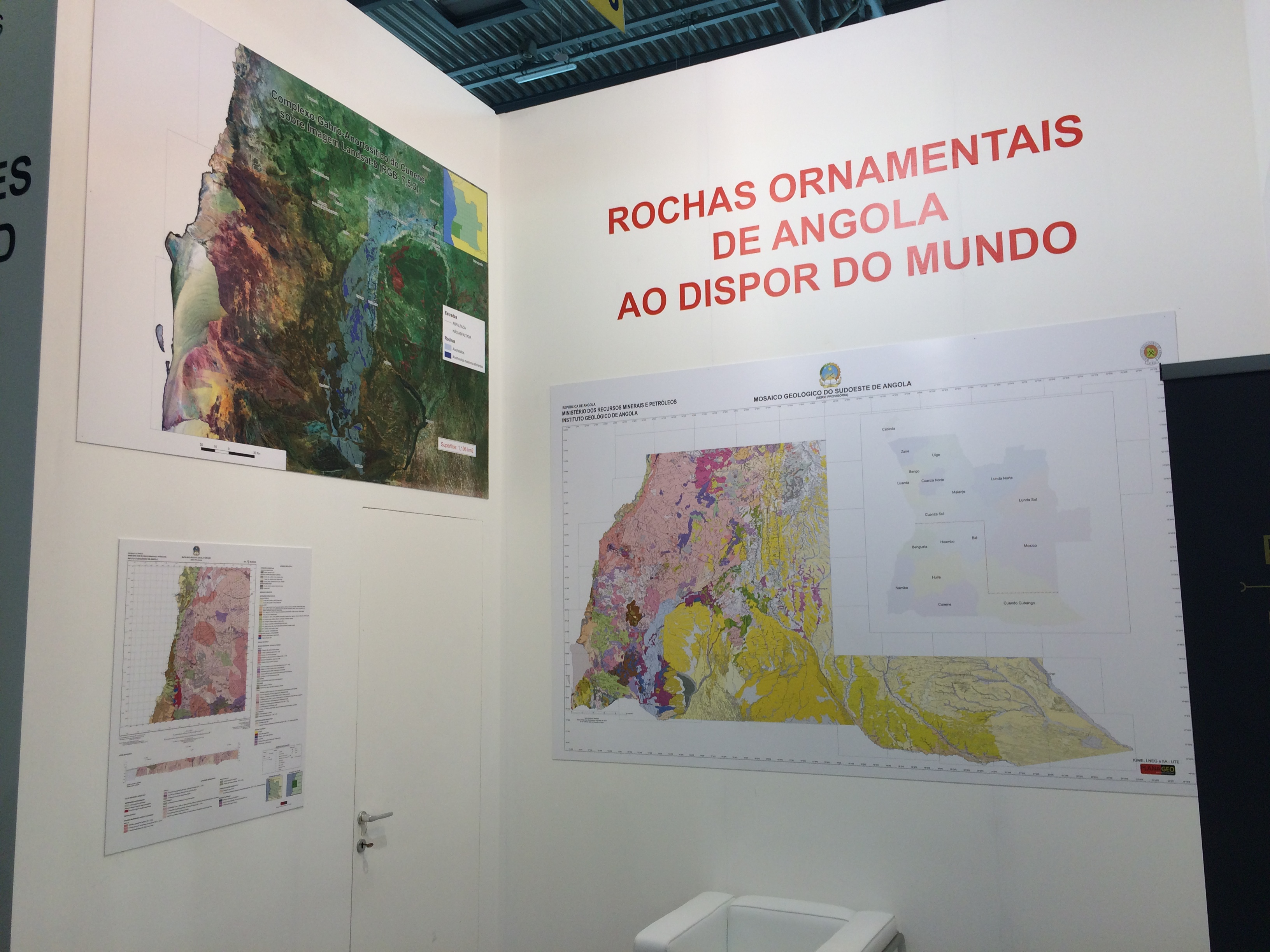 Exposição da cartografia geológica desenvolvida pelo consórcio UTE para o PLANAGEO