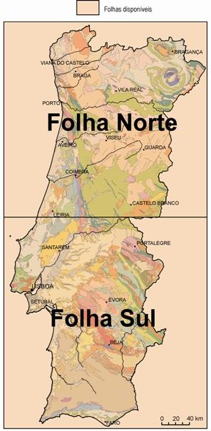 Carta Geológica de Portugal, na escala de 1:500 000