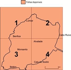 Carta Geológica do Concelho de Lisboa, na escala de 1:10 000