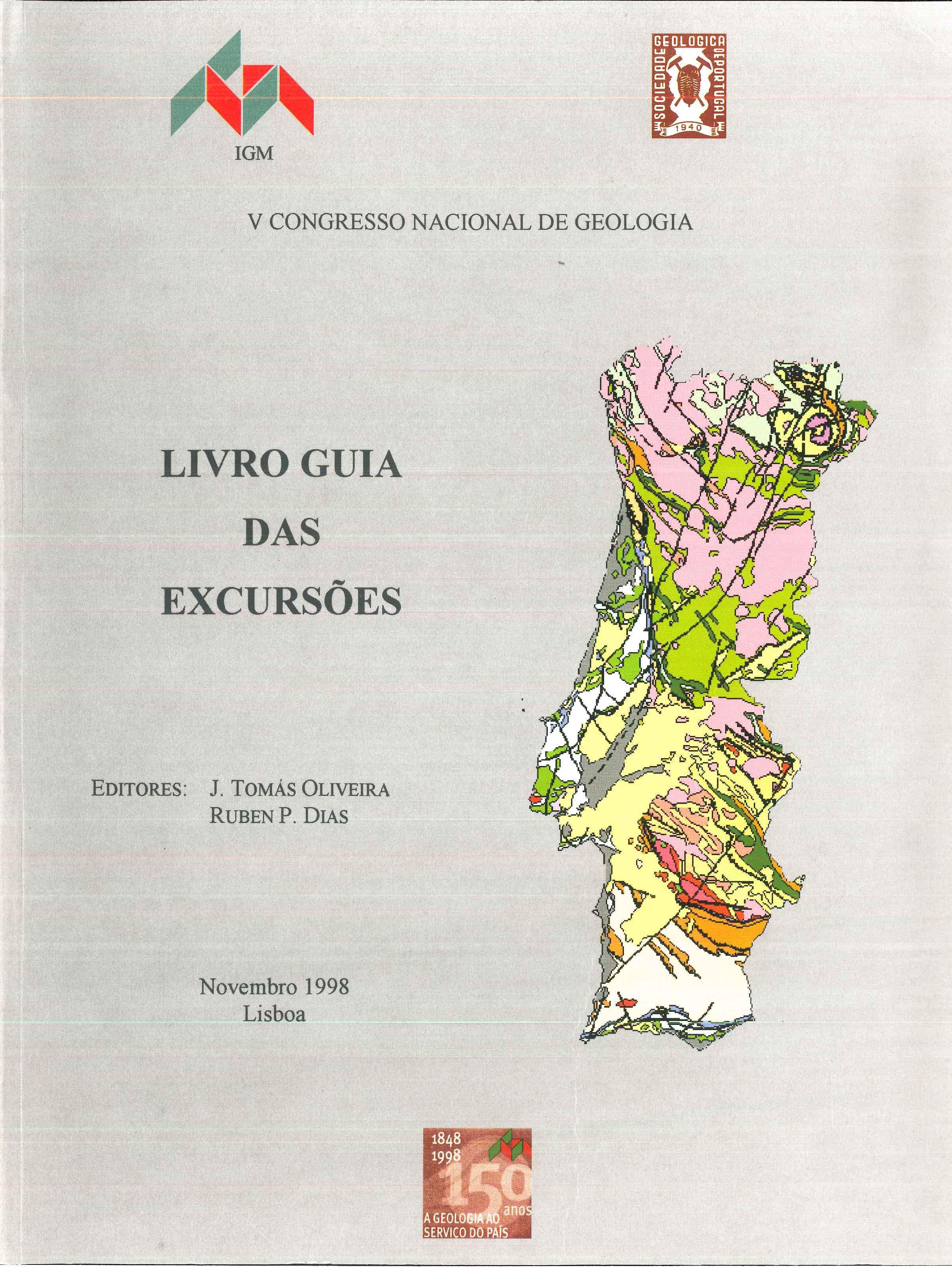 Livro Guia das Excursões do V Congresso Nacional de Geologia