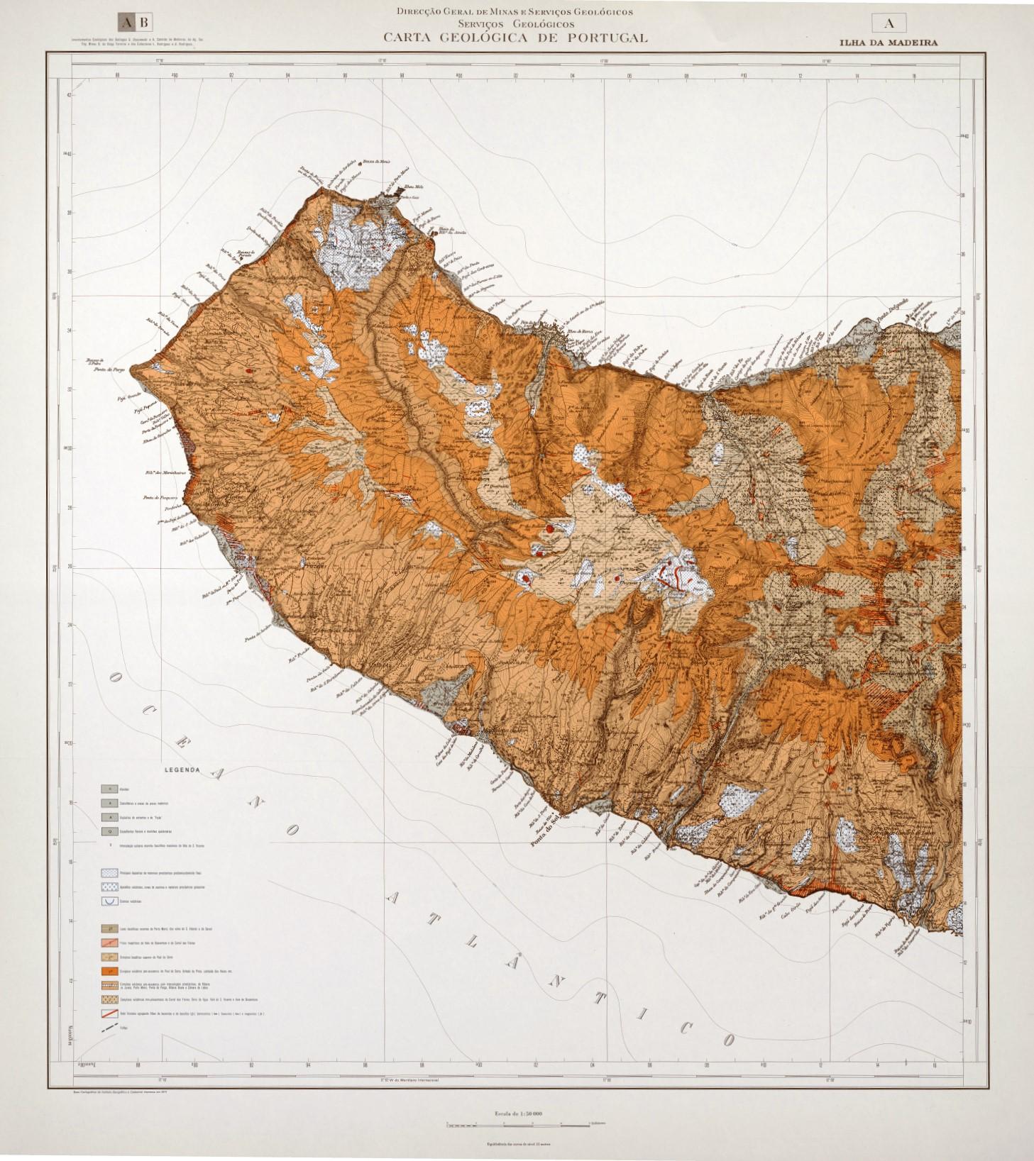 Ilha da Madeira - Folha A 50k