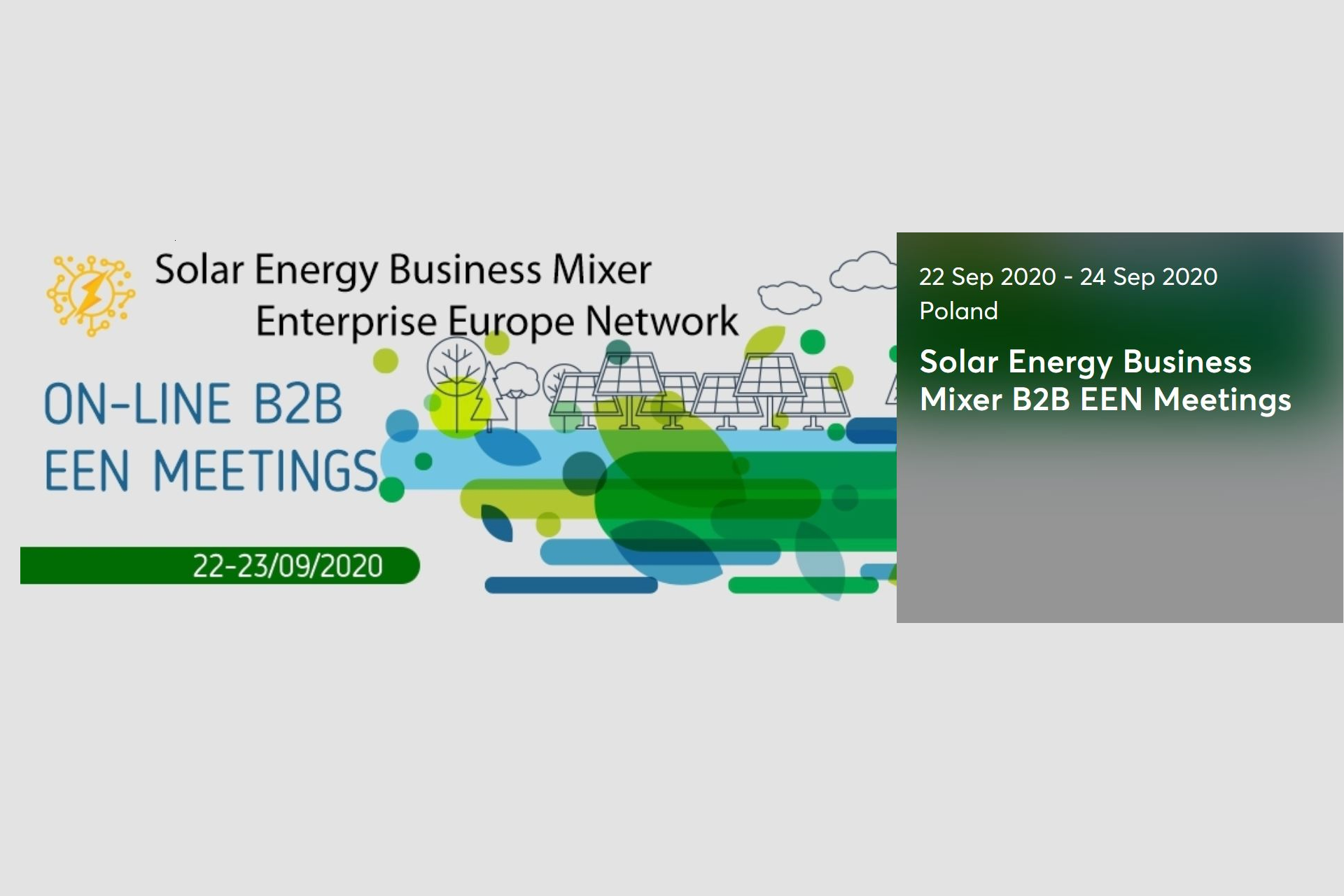 Solar Energy Business Mixer<br>On-line B2B EEN Meetings
