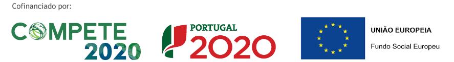 Logótipos das entidades cofinanciadoras do projeto Inlight - Compete 2020, Portugal 2020, UE-Fundo Social Europeu