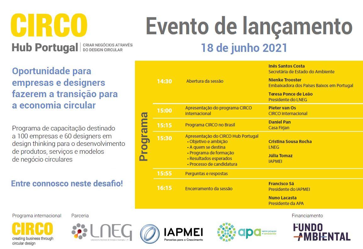 Lançamento do CIRCO Hub Portugal - 18 de junho 2021 às 14h30